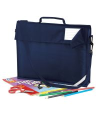 HALKIRK PRIMARY SCHOOL NAVY BOOK BAG WITH STRAP  AND WITH LOGO
